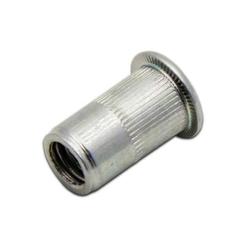 Заклепка-гайка, цилиндрический фланец с рифлением M4L13